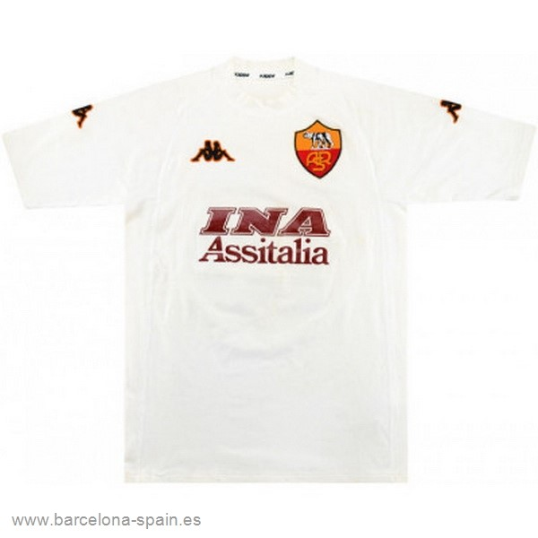 Personalizzate Segunda Camiseta As Roma Retro 2000 2001 Blanco