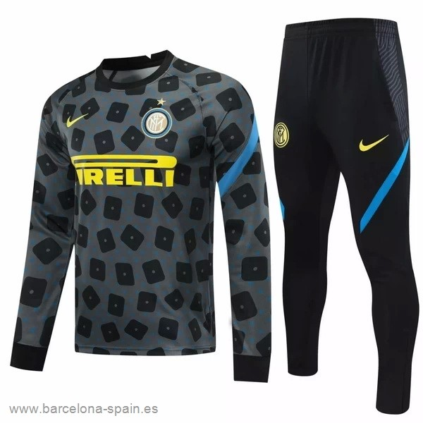 Personalizzate Chandal Inter Milán 2020 2021 Gris Negro