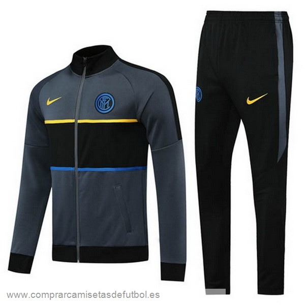 Personalizzate Chandal Inter Milán 2020 2021 Negro Gris