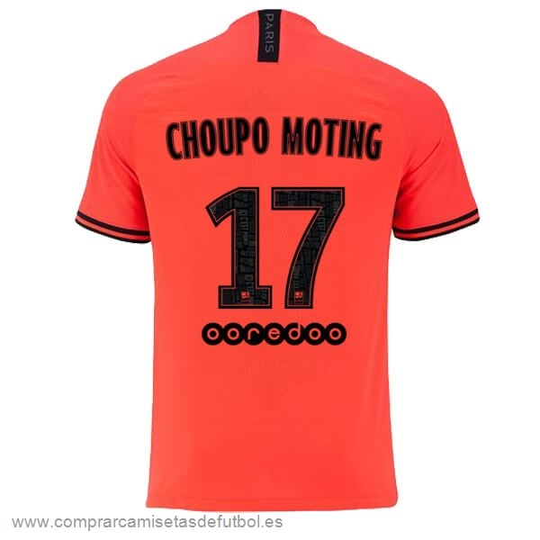Personalizzate NO.17 Choupo Moting Segunda Camiseta Paris Saint Germain 2019 2020 Naranja