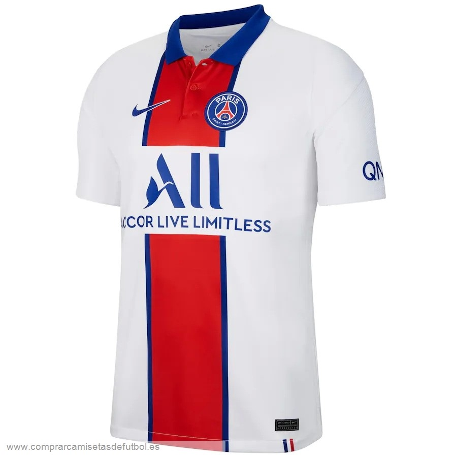 Personalizzate Segunda Camiseta Paris Saint Germain 2020 2021 Blanco