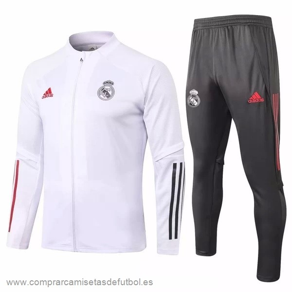 Personalizzate Chandal Real Madrid 2020 2021 Blanco Gris Rojo