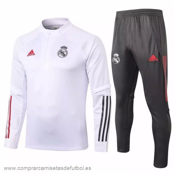 Personalizzate Chandal Real Madrid 2020 2021 Blanco Gris