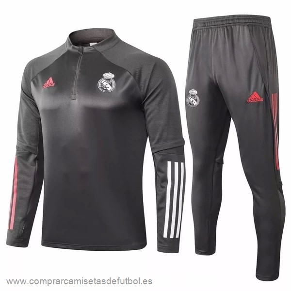 Personalizzate Chandal Real Madrid 2020 2021 Gris Blanco