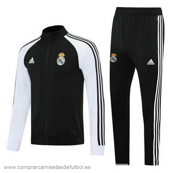 Personalizzate Chandal Real Madrid 2020 2021 Negro Blanco